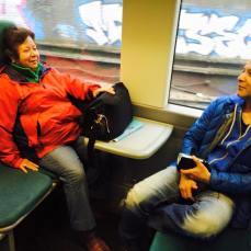 On the train to Scotland