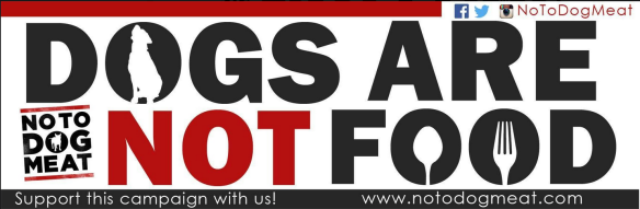 NoToDogMeat car sticker
